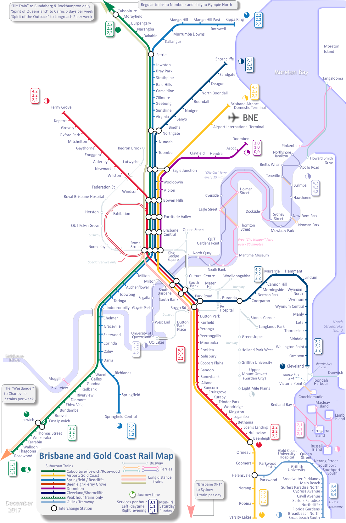 Rail Map of Brisbane
