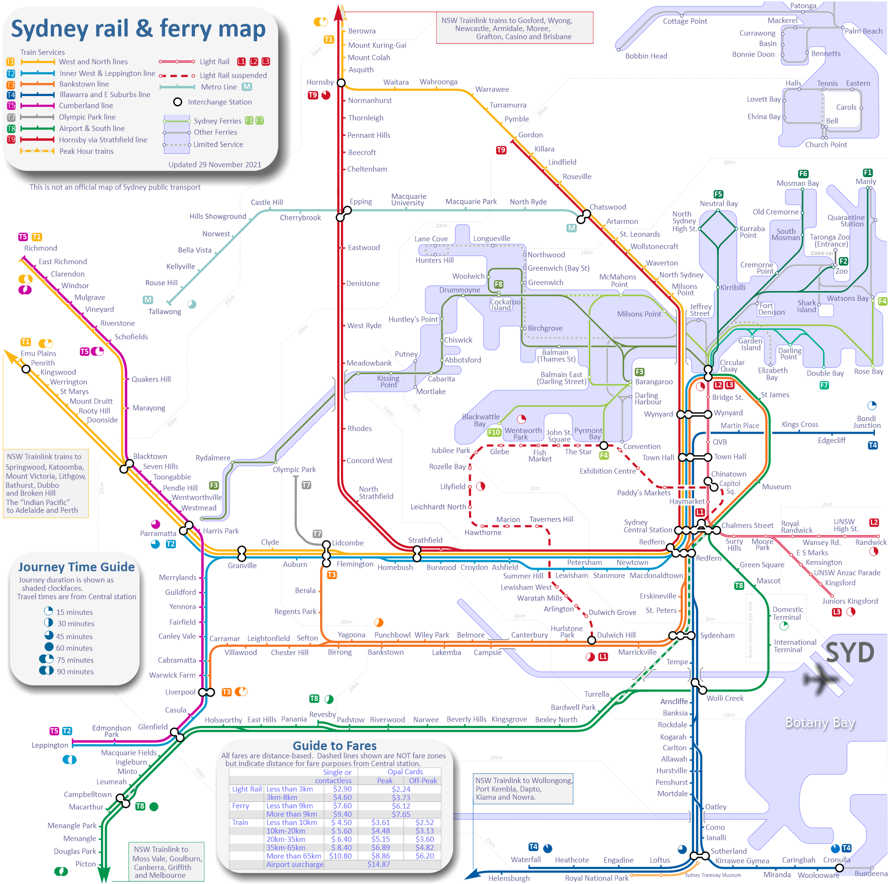 Sydney Subway Map Sydney Train Map